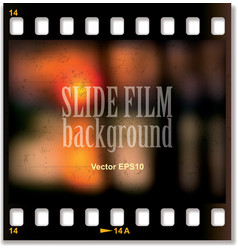 Slide film background vector