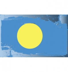 Palau national flag vector
