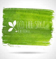 Green hand-drawn banner - eco background vector