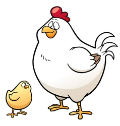 Hen and chick vector