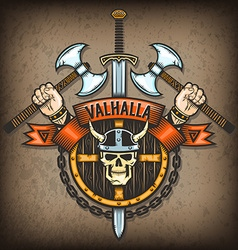 Coat of valhalla vector