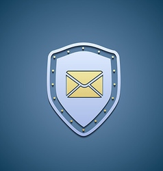 Icon shield with envelope vector