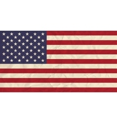United states of america paper flag vector
