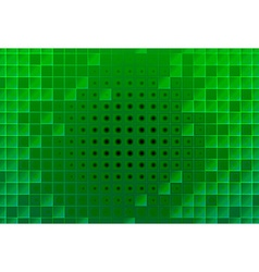 Abstract green glass blocks vector image