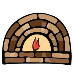 Abstract painted fireplace vector image vector image
