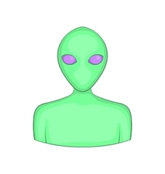Alien icon cartoon style vector