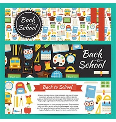 Back to School and Education Template Banners Set vector image vector image