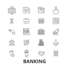 banking finance money banker piggy business vector image
