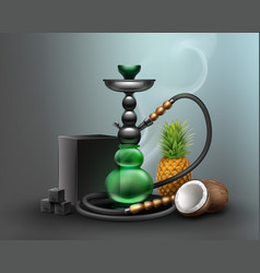 Big green hookah vector