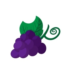 Blue grapes bunch icon cartoon style vector image vector image