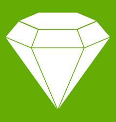 brilliant gemstone icon green vector image vector image