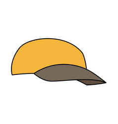 Cap of man delivery accessory clothes uniform vector