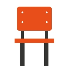 chair school isolated icon vector image