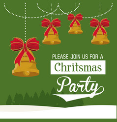 Christmas part invitation card vector