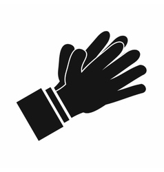 Clapping applauding hands icon simple style vector