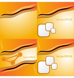 Collection of abstract orange backgroundsEps10 vector image