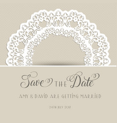 decorative save the date invitation vector image