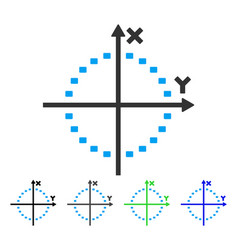Dotted circle plot flat icon vector