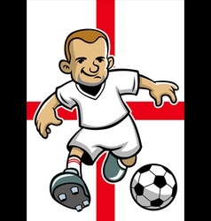 england soccer player with flag background vector image