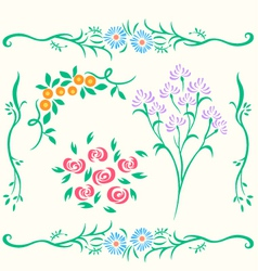flower design element vector image