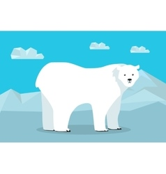 Funny Polar Bear vector image