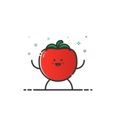 funny tomato character vector image vector image