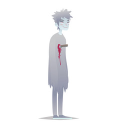 ghost boy cute young man in style of dead monster vector image vector image