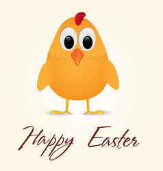 Happy easter greeting card with chicken vector