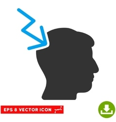 Head electric strike eps icon vector