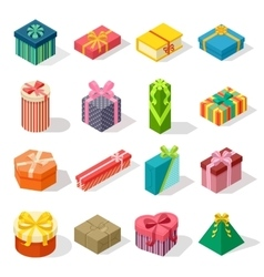 Isometric gift box vector image