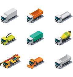 isometric trucks vector image