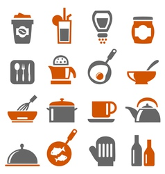 Kitchen ware icons vector