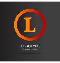 L Letter logo abstract design vector image vector image