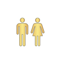 Man and woman computer symbol vector