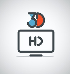 Modern media web icon vector