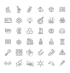 modern thin line icons set of biochemistry vector image vector image