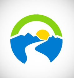Mountain landscape abstract logo vector
