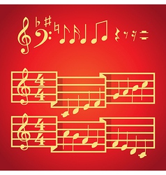 Musical scale and notes vector image vector image