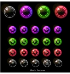 neon web buttons vector image