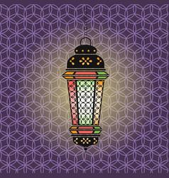 ramadan with lantern vector image