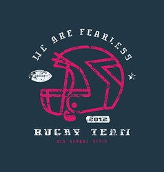 Rugby team badge with shabby texture vector image vector image