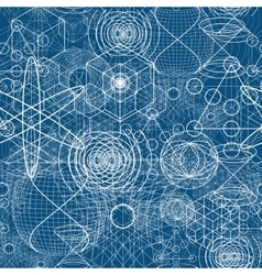 Sacred geometry symbols and elements wallpaper vector image vector image