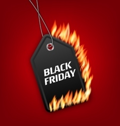 Sale discount with fire flame for black friday vector