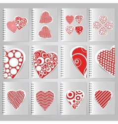 Set of covers for the design of notebooks vector image vector image