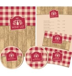 set of design elements for a wine shop vector image vector image