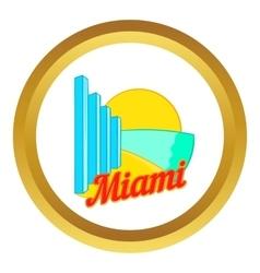 Sign Miami icon vector image
