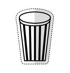 soda glass with straw icon vector image vector image