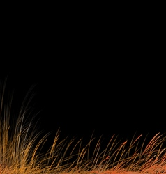 Stylized autumn grass vector
