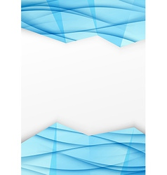 Swoosh wave geometrical border blue brochurejpg vector