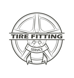 Tire fitting service vector